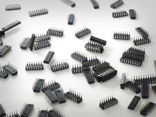 Free Integrated Circuits Used As Background Royalty Free Stock Photos - 17842368