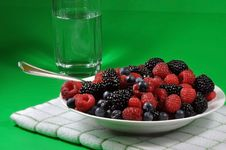Free Plate Of Healthy Berries Royalty Free Stock Photo - 17843125