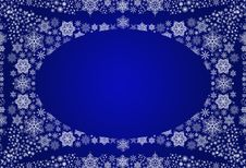 Free Winter Background With Snowflakes Stock Images - 17843164