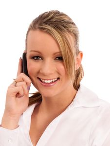 Free On The Phone Stock Photography - 17843352