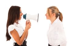 Free Business Woman Shouting Royalty Free Stock Image - 17843536