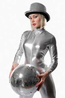 Free Beautiful Young Woman With A Disco Ball Stock Photos - 17844083
