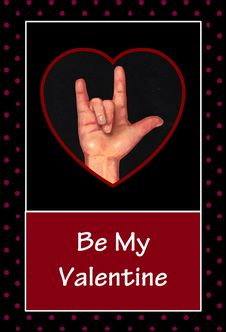 Valentine In American Sign Language Royalty Free Stock Photo