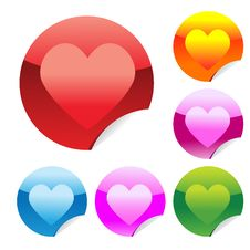 Free Heart Stickers Stock Photography - 17844322