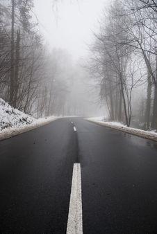 Free Foggy Sylvan Road Royalty Free Stock Images - 17844669