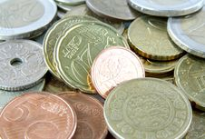 Free Coins Background Royalty Free Stock Images - 17844919