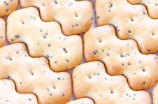 Free Shaped Browned Crisp Biscuits As Tile Background Royalty Free Stock Photos - 17845038
