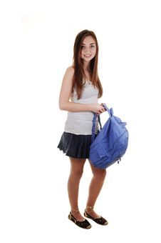 Free Schoolgirl With Backpack. Royalty Free Stock Photo - 17845165
