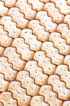 Free Shaped Browned Crisp Biscuits As Tile Background Royalty Free Stock Image - 17845176
