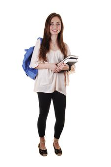 Free Schoolgirl With Backpack. Stock Photo - 17845220
