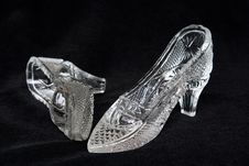 The Crystal Shoes Stock Images