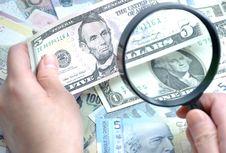 Free Seeking Fake Bill Royalty Free Stock Photos - 17846108