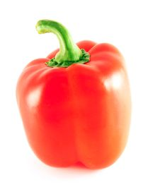 Free Red Pepper Over White Royalty Free Stock Photography - 17846537