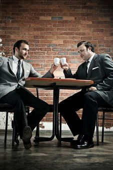 Free Suit Wearing Men Make A Deal Royalty Free Stock Images - 17847029