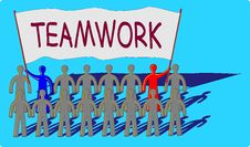 Teamwork With A Big Message Royalty Free Stock Photography
