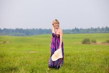 Free Girl On A Meadow Royalty Free Stock Photo - 17847085
