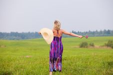 Free Girl On A Meadow Royalty Free Stock Image - 17847096