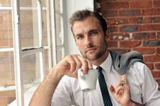 Window Portrait Of Business Man Royalty Free Stock Photography