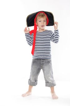 Free Young Boy Dressed As Pirate Stock Photos - 17847943
