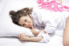Free Young Woman In Bed Royalty Free Stock Photo - 17847955