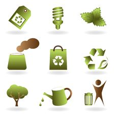 Free Eco And Environment Icon Set Royalty Free Stock Images - 17848219