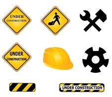 Free Construction Signs And Tools Stock Photo - 17848220