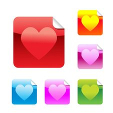 Free Heart  Stickers Royalty Free Stock Images - 17849209