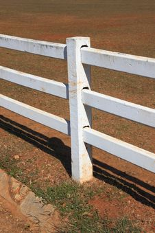 Free White Pole Fence Stock Image - 17849281