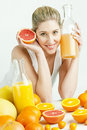 Free Woman With Citrus Fruit Royalty Free Stock Photo - 17851115