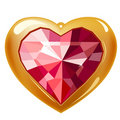 Free Ruby Gold Heart Royalty Free Stock Images - 17851369