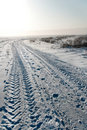 Free Field Road In Winter Stock Photos - 17853103