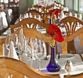 Free Table Is Set In A Restaurant Royalty Free Stock Image - 17855496