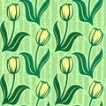 Free Tulip Line Seamless Background Stock Photo - 17856250
