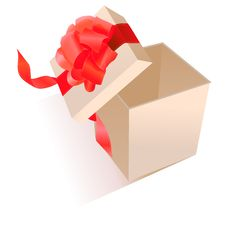 Free Realistic Giftbox With Bow Stock Image - 17850451