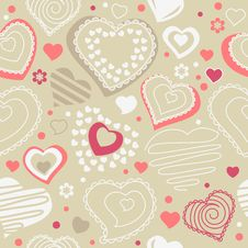 Free Seamless Pattern With Red Contour Shapes Stock Photography - 17850472