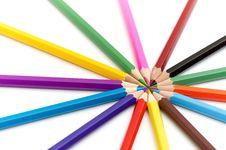 Free 14 Color Pencils Stock Photos - 17850753