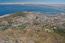 Aerial View Cape Town City Stock Images