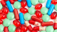 Free Colorful Tablets With Capsules Stock Image - 17850971