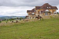 Free Mountain Farm Landscape Royalty Free Stock Image - 17850996
