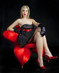 Free Woman Wearing Black Dress Royalty Free Stock Image - 17851126