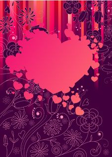 Free Frame With Big Pink Heart Stock Photo - 17851720