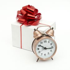 Free A Retro Clock With Presents Stock Photo - 17851830
