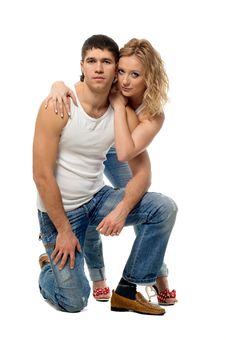Lucky Pair Lad And Girl Royalty Free Stock Photos