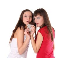 Free Two Girls With Chocolate Stock Photography - 17852812