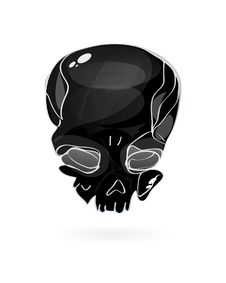 Free Black Skull Symbol Royalty Free Stock Photo - 17853555