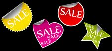 Free Stickers With Sale Royalty Free Stock Photos - 17854128