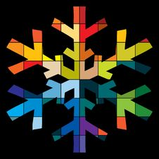 Free Colorful Snowflake Stock Image - 17854141