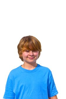 Free Portrait Of Cute Young Boy Royalty Free Stock Photo - 17854425