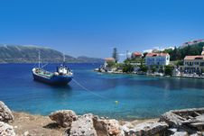 Free Greek Fishing Village Royalty Free Stock Photography - 17854497
