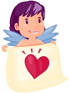 Free Fairy With Heart Royalty Free Stock Photo - 17854545